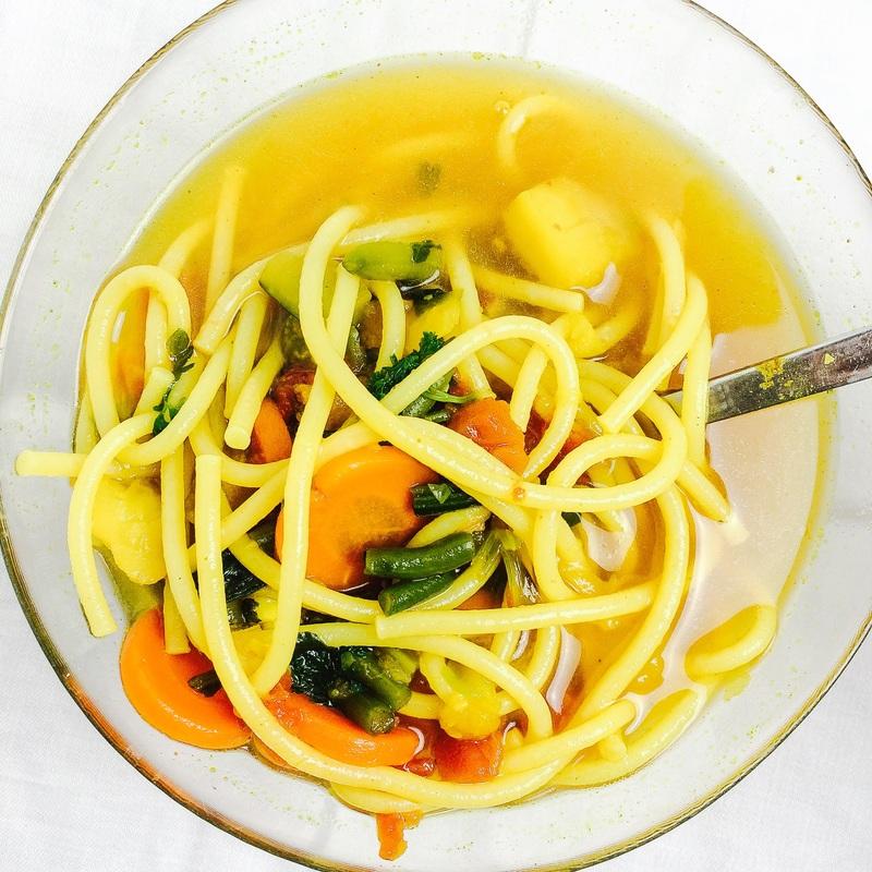 Zeleninová polievka s kurkumou / Vegetable soup with turmeric