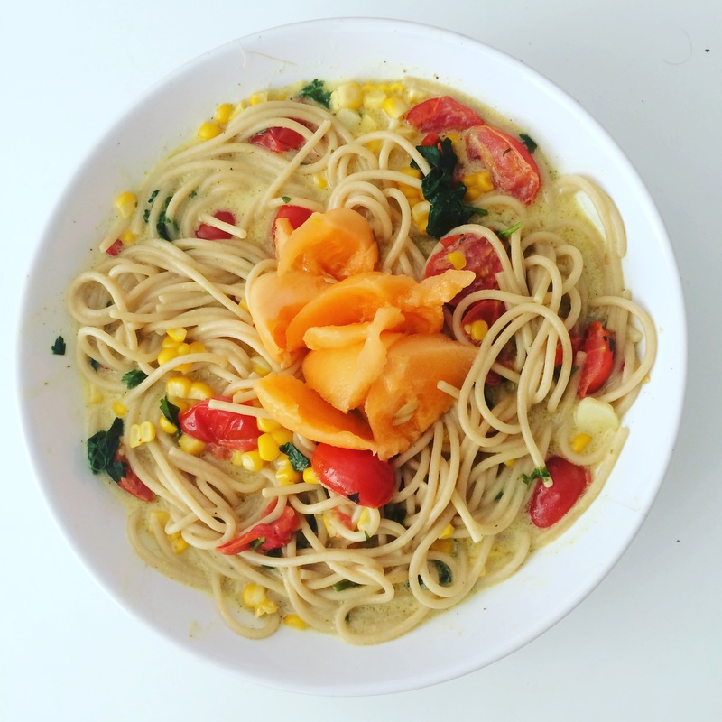 Špagety s kokosovou čili omáčkou