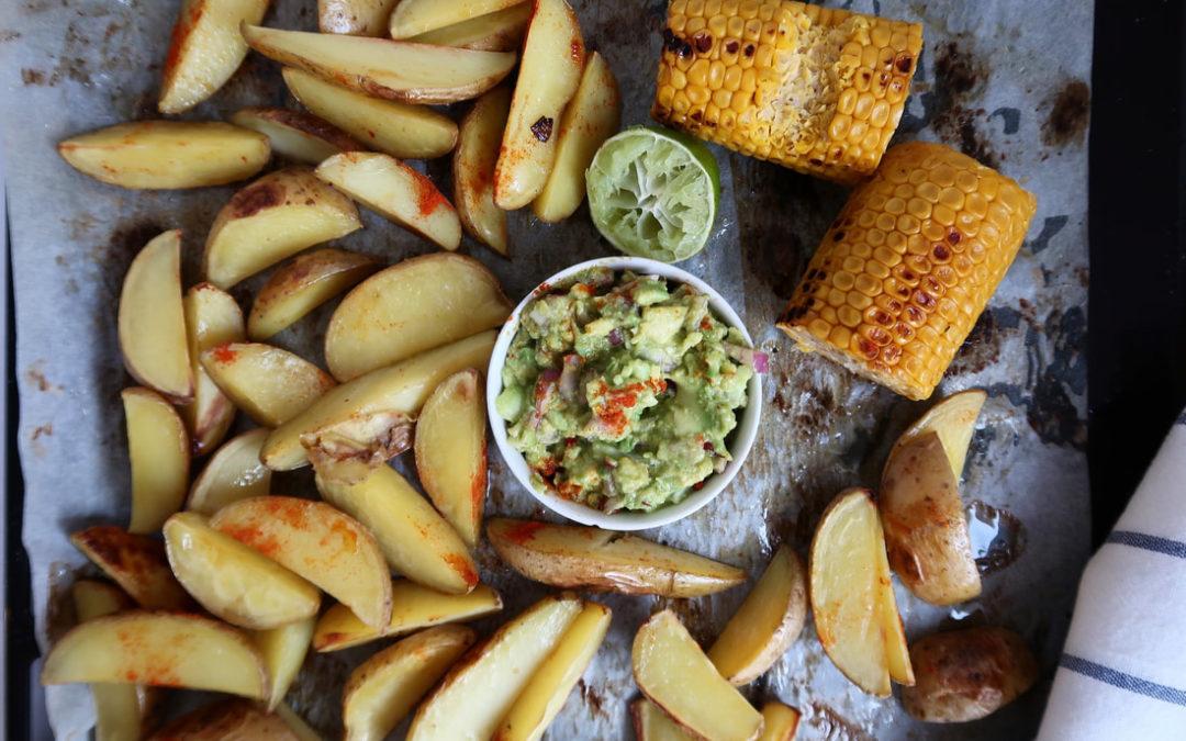 Pečené zemiaky s guacamole