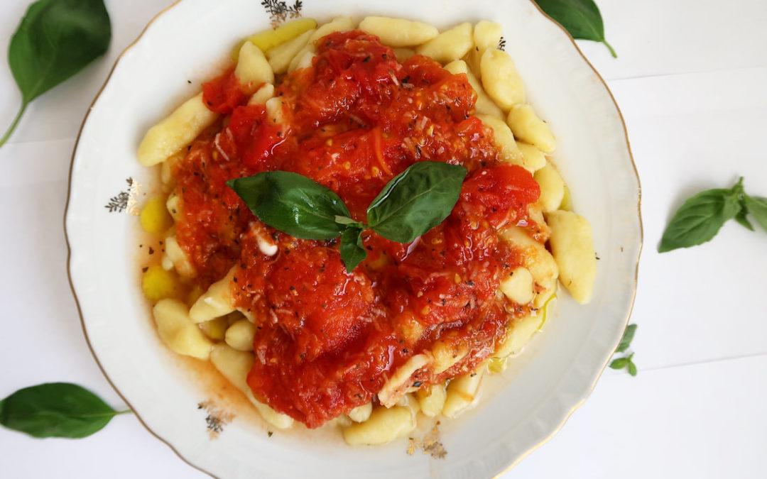 Domáce gnocchi s pomodoro omáčkou