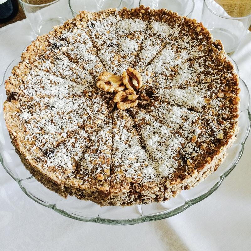 Vegan koláč z ovsených vločiek