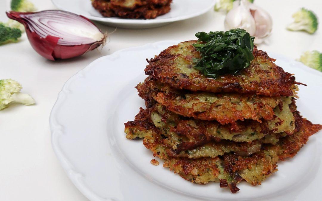 Vegan brokolicovo – zemiakové placky.