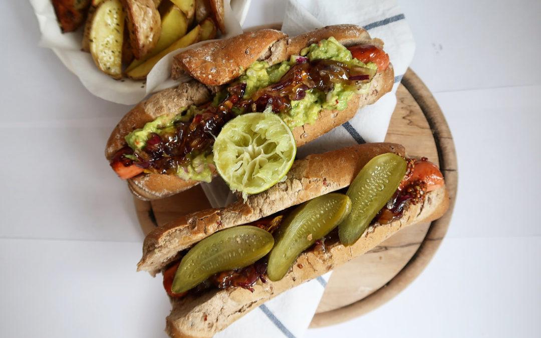 Vegánsky hot – dog